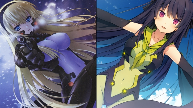 Irisdina from Schwarzesmarken & Misaki from AOKANA: Four Rhythm Across The Blue
