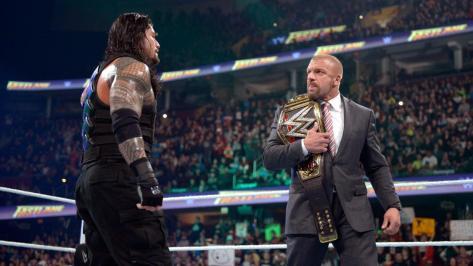 Roman Reigns & Triple H - WWE Fastlane 2016
