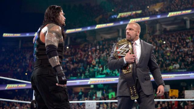 Roman Reigns & Triple H - WWE Fastlane 2016