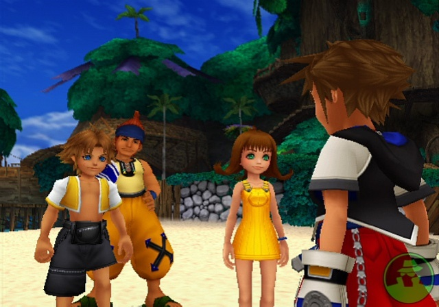 (left to right) Tidus, Wakka, Selphie, Sora