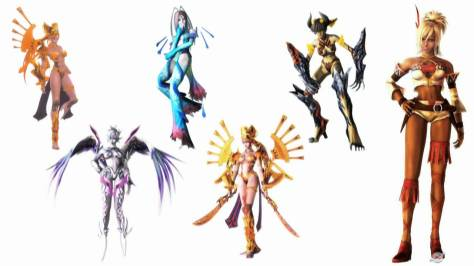 Shania and her various Fusions