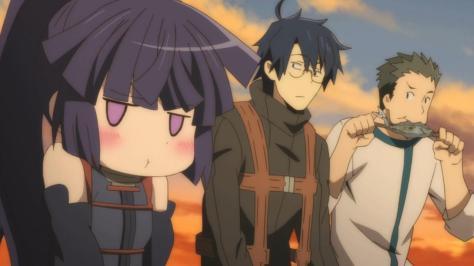 (left to right) Akatsuki, Shiroe, Naotsugu
