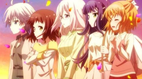 (left to right) Ren, Hibiki, Botan, Ruri, Anne