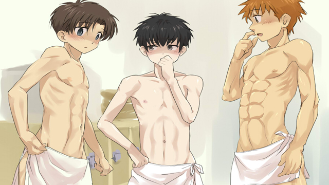 guy naked anime